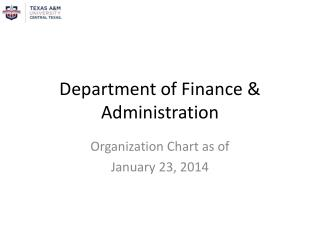Department of Finance & Administration