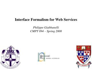 Interface Formalism for Web Services