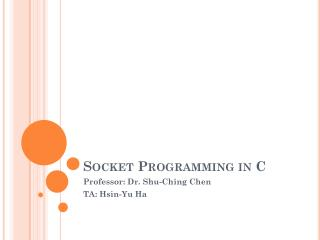 Socket Programming in C