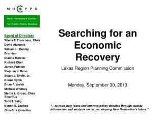 Searching for an Economic Recovery