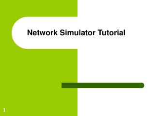 Network Simulator Tutorial