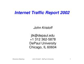 Internet Traffic Report 2002