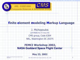 Finite element modeling Markup Language