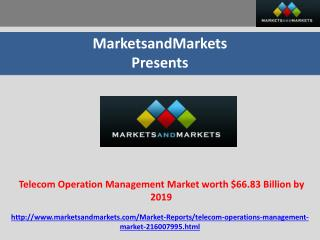 Telecom Operation Management Market worth $66.83 Billion by