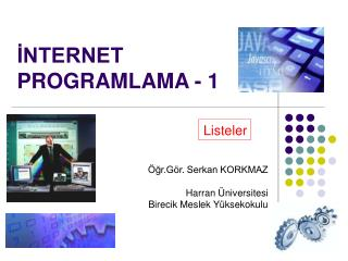 İNTERNET PROGRAMLAMA - 1