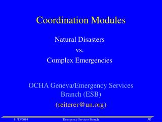 Coordination Modules