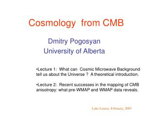 Cosmology  from CMB
