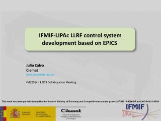 IFMIF-LIPAc LLRF control system development based on EPICS