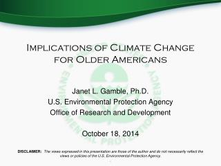 Implications of Climate Change for Older Americans