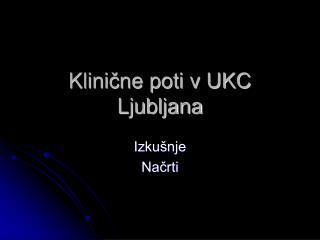 Klinične poti v UKC Ljubljana