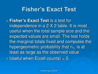 Fisher s Exact Test