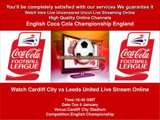 Cardiff City vs Leeds United LIVE STREAM ONLINE TV SHOW