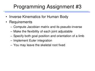 Programming Assignment #3