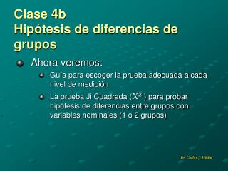 Clase 4b Hipótesis de diferencias de  grupos