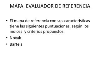 MAPA  EVALUADOR DE REFERENCIA