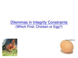 Dilemmas in Integrity Constraints  (Which First: Chicken or Egg?)