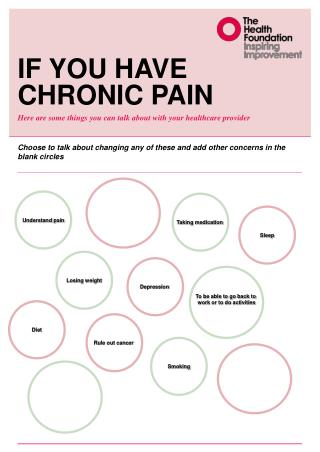 If you have chronic pain