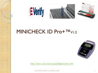 MINICHECK ID Pro+™ V1.2