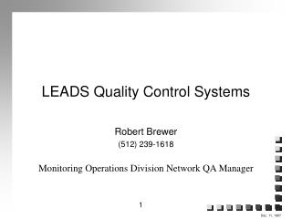 LEADS Quality Control Systems