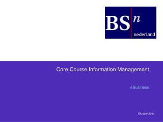 Core Course Information Management