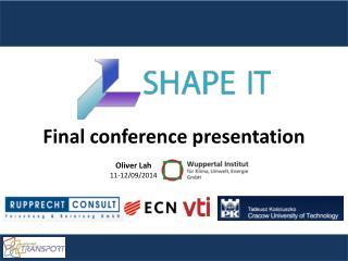 Final conference presentation