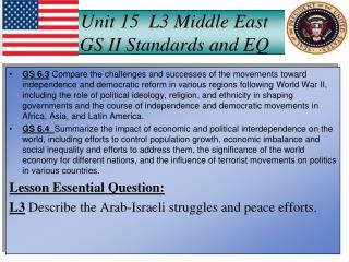 Unit 15  L3 Middle East GS II Standards and EQ