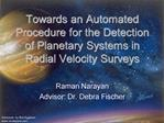 Towards an Automated Procedure for the Detection of Planetary Systems in Radial Velocity Surveys
