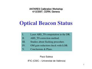 Optical Beacon Status