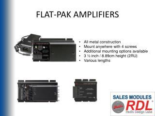 FLAT-PAK AMPLIFIERS