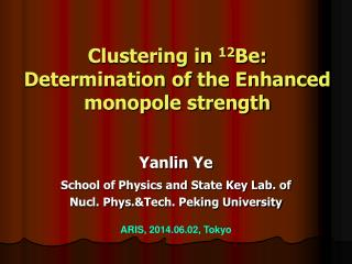 Clustering in  12 Be: Determination of  the Enhanced  monopole strength
