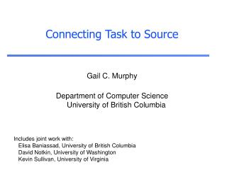 Connecting Task to Source
