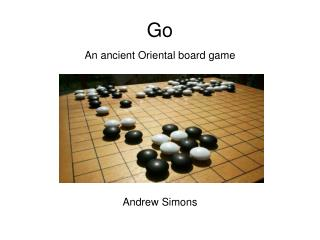 An ancient Oriental board game