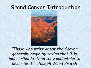 Grand Canyon Introduction