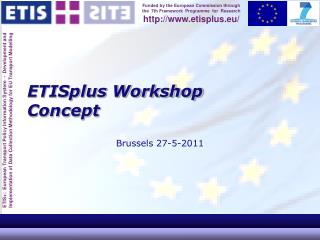 ETISplus Workshop Concept