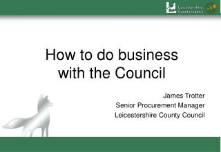 How to do business  with the Council