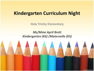 Kindergarten Curriculum Night