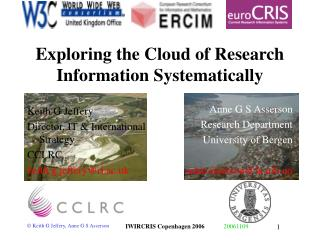 Exploring the Cloud of Research Information Systematically