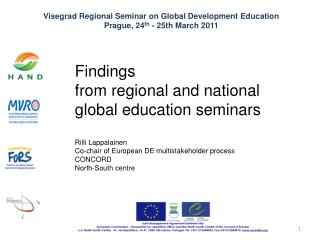 Findings  from regional and national  global education seminars Rilli Lappalainen
