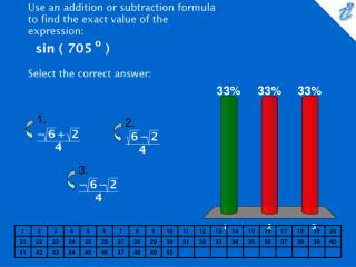 Use an addition or subtraction formula to find the exact value of the expression: {image} Select the correct answer: