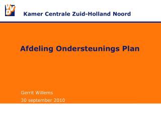 Afdeling Ondersteunings Plan