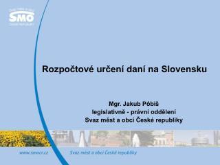 Rozpočtové určení daní na Slovensku