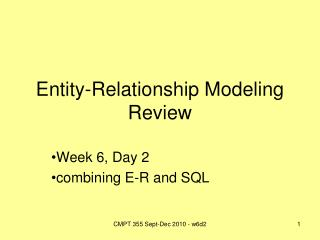 Entity-Relationship Modeling Review