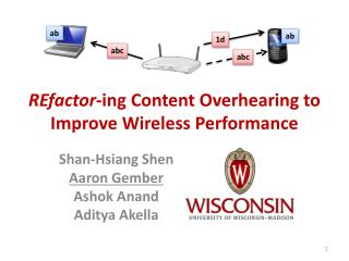 REfactor -ing  Content Overhearing to Improve Wireless Performance
