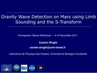 Gravity Wave Detection on Mars using Limb Sounding and the S-Transform