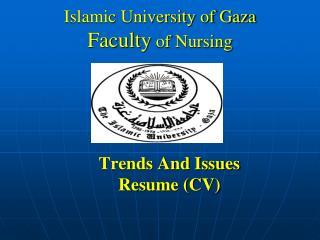 Islamic University of Gaza Faculty  of Nursing