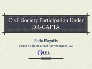 Civil Society Participation Under DR-CAFTA