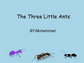 The Three Little Ants
