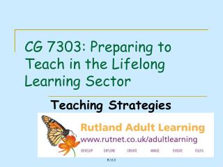 CG 7303: Preparing to Teach in the Lifelong Learning Sector