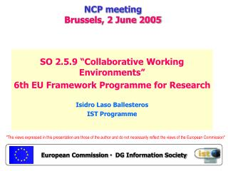 NCP meeting Brussels, 2 June 2005