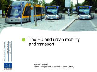 The EU and urban mobility and transport